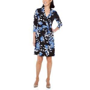 NWT Liz Claiborne Wrap Floral Dress